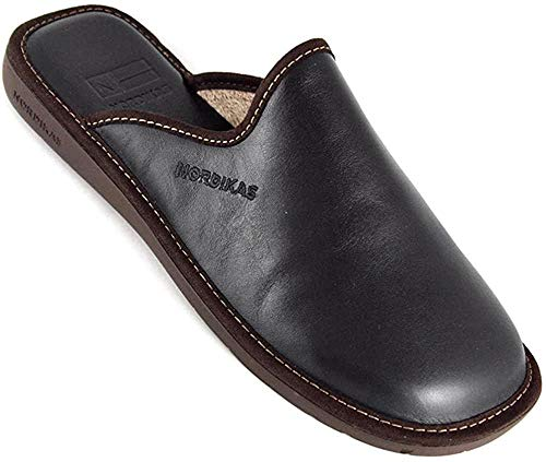 Zapatillas de estar por casa de Nordikas Norwood, color Negro, talla 45
