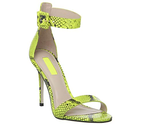 Office, Damen Pumps, Mehrfarbig - Fluro Lime Snake Leather - Größe: EU 37