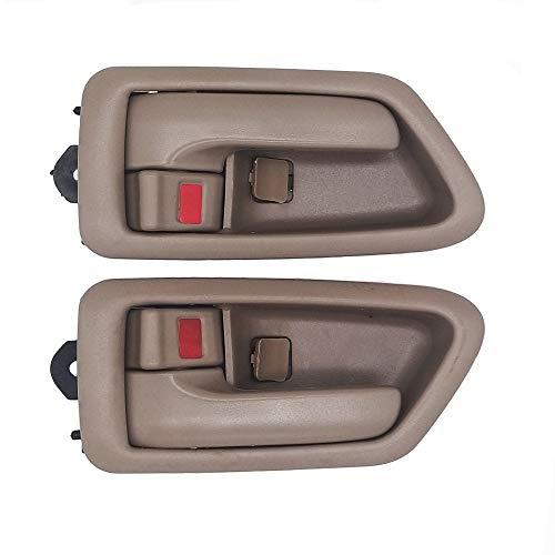BOPART Inside Interior Door Handle for 97-01 Toyota Camry, 1997 1998 1999 2000 2001 Camry Front Rear Driver & Passenger Side Inner Door Handle Replacement (Beige/Tan)