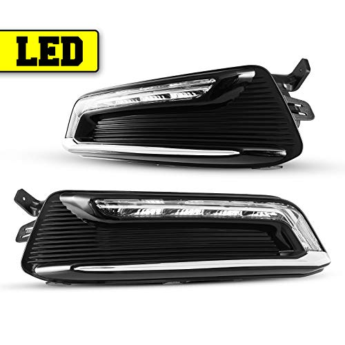 LED DRL Fog Lights Compatible with 2014-2020 Chevy Impala Fog Lamp Assembly 2PCS AUTOWIKI