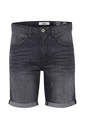 Blend Luke Herren Jeans Shorts Kurze Denim Hose Mit Destroyed-Optik Aus Stretch-Material Slim Fit, Größe:XL, Farbe:Denim Dark Grey (76209)
