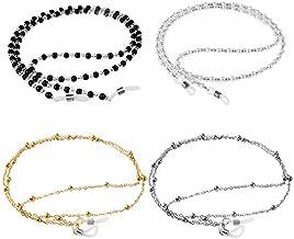 ONESING 4 Pcs Eyeglass Chains for Women Eyeglasses String Holder Glasses Strap Eyewear Chain Glasses Cord Lanyard Gift
