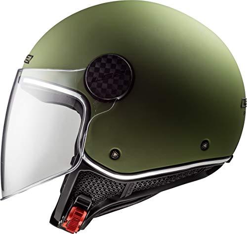 LS2 Casco moto OF558 SPHERE LUX MATT MILITARY Verde, Verde, L