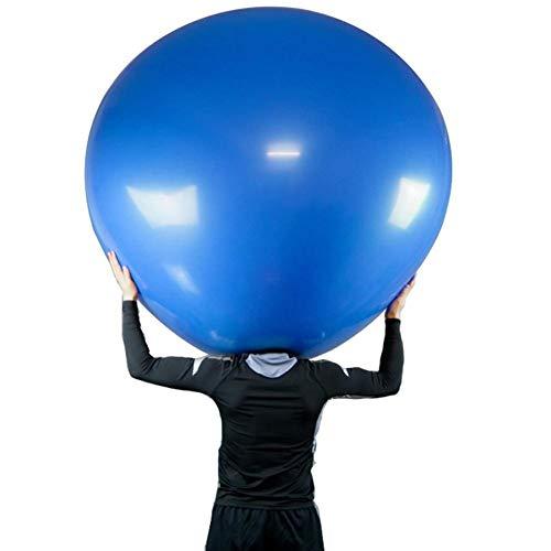 jaspenybow 48 Zoll - Latex-Riesen-Ballon für menschliche Eier Wiederverwendbarer runder Kletterballon Verdickter Latexball-Wasserballon für Home-Entertainment-Spiele - ungiftig und elastisch