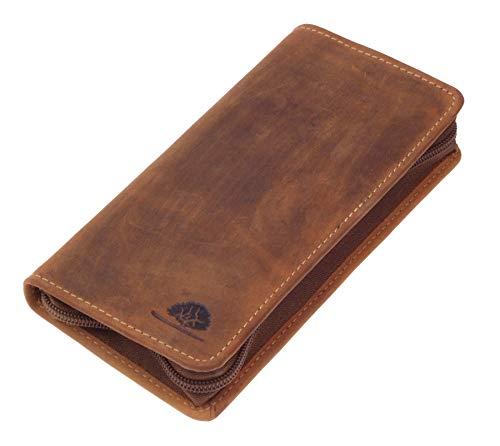Echt Leder Stifteetui braun I Leder Schlamppermäppchen I Feder-Tasche Etui Vintage I braune Stiftmappe Leder I 9x18x3cm