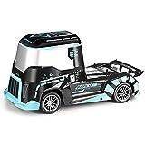 KGUANG Cubo basculante Camión pesado ligero Tractor Coche RC Anti-colisión y resistencia a caídas Motor Drift 380 Alta velocidad 2.4G Control remoto Buggy Carga USB Modelo para niños Camión de juguete