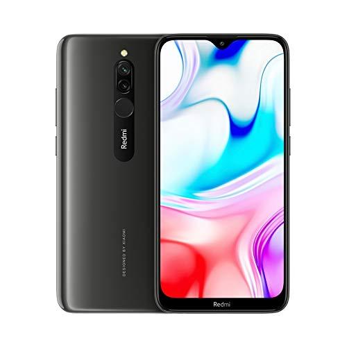 Xiaomi Redmi 8 (Pantalla HD+ 6.22' Notch Tipo Gota, 4GB + 64GB, cámara Dual de 12MP + 2MP con IA, Snapdragon 439, 4G, 5000mAh tecnología Quick Charge 3.0 y Carga rápida de 18W, Android) Negro Ónix