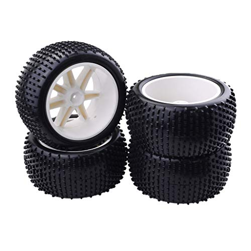 koolsoo Neumáticos de Coche de 4 Piezas Accesorio de Llanta de Plástico para Neumáticos de 85 Mm Mejorado para
