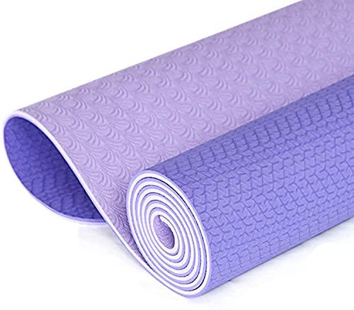 NZKW Colchoneta de Yoga Mate de 8 mm para Yoga, insípido, Antideslizante, Abdominales, tapete para Ejercicios con Correa, tapete para Gimnasia (Color: E)