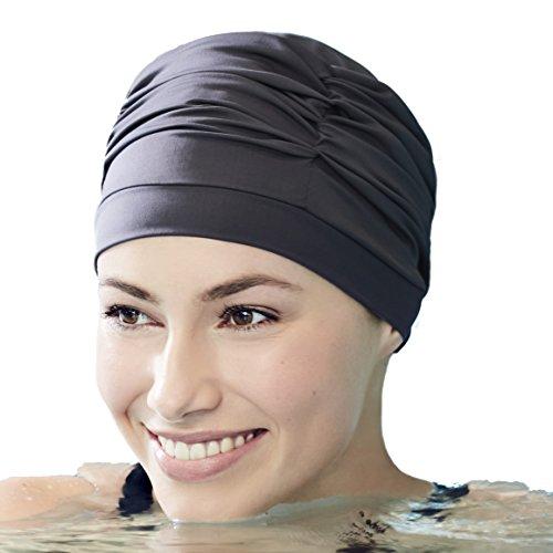 Christine Headwear Gorro de baño -piscina, spa y playa- específico para mujeres con quimioterapia (negro)