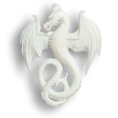 ISLAND PIERCINGS Handgefertigter Drache Drachen Amulett Anhänger inkl. Band PB032