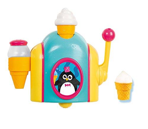 TOMY E72378 Schaumeismaschine, Wasserspielzeug für die Badewanne in Farbenfrohem Design, Badespaß für Kinder, Geschicklichkeitsspiel, Spiele für Kleinkinder, Geschenke für Kinder, Ab 18 Monaten