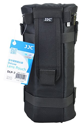 JJC DLP-7 130 x 310 mm Water Resistant Deluxe Lens Pouch with Strap - Black