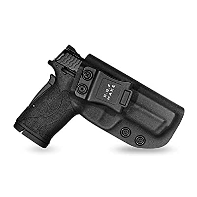 B.B.F Make IWB KYDEX Holster Fit: Smith & Wesson M&P 380 Shield EZ | Retired Navy Owned Company | Inside Waistband | Adjustable Cant | US KYDEX Made (Black, Right Hand Draw (IWB))