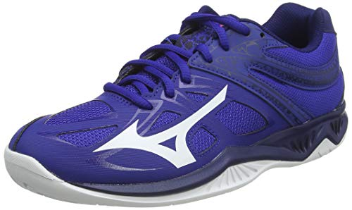 Mizuno Lightning Star Z5 Junior, Chaussure de Volleyball Mixte Enfant, Reflexbluec/WHT/Diva Pink, 38.5 EU