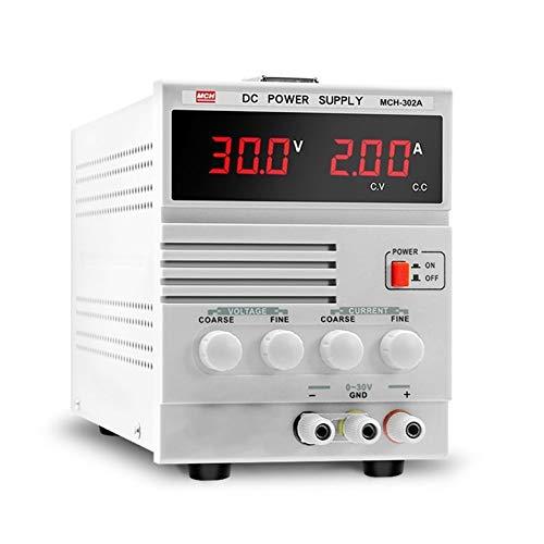 MCH-302A Fuente de alimentación de CC Ajustable 0-30V 0-2A Reparación de teléfono móvil Fuente de alimentación lineal DISEÑO HUMANO,USO AMPLIO (Size : 220V)