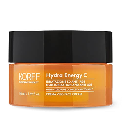 Korff Hydra Energy C, Crema Viso con Hydroplus Complex, Formula Idratante con Acido Ialuronico per Pelle Secche, 50ml