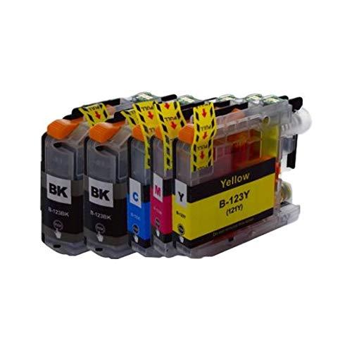 Mondial Cartucho - Pack de 5 cartuchos LC 123 compatibles con Brother – 4 colores – LC 123 x 5