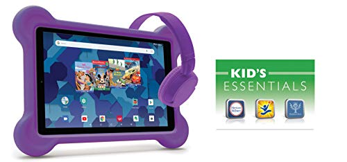10.1-inch Tablet with Bumper case and Headphones (Purple)
