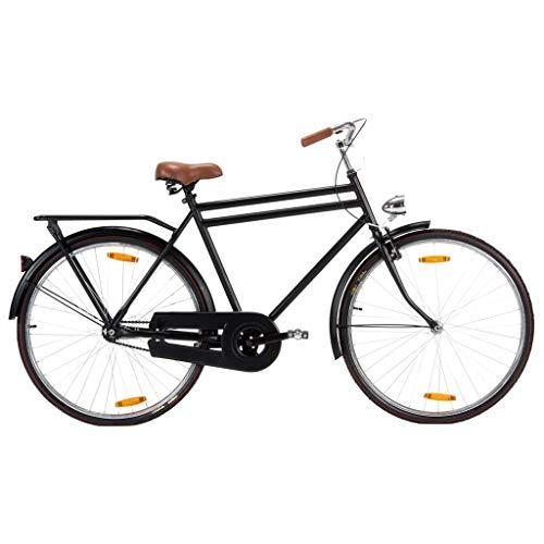 vidaXL Bicicleta Holandesa de Hombre Holandés Países Bajos Cicloturismo Crucero Clásica Ciudad Masculina Viajes Rueda de 28 Pulgadas Cuadro 57 cm