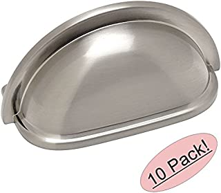 10 Pack - Cosmas 4310SN Satin Nickel Cabinet Hardware Bin Cup Drawer Handle Pull - 3