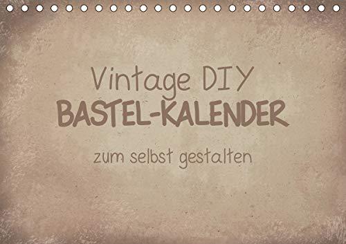 Vintage DIY Bastel-Kalender (Tischkalender 2021 DIN A5 quer)