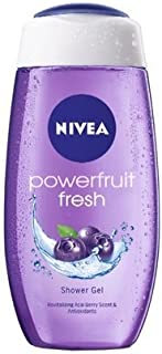 Nivea Powerfruit Shower Gel, 250ml (Pack of 2)