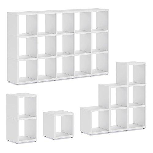 BOON 1x1 Regalsystem | modular & flexibel | 38x40x33 cm (LxHxT) - weiß
