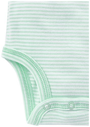 Simple Joys by Carter's Baby 6-Pack Short-Sleeve Bodysuit, Gray/Yellow, 0-3 Months
