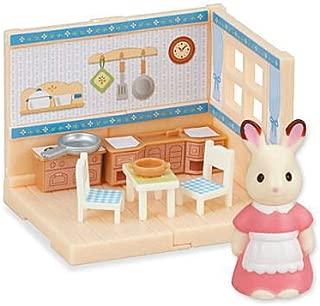 シルバニアファミリーひろがる大きなお部屋5 ショコラウサギファミリーのすてきなお家 [1.ダイニングルーム&ショコラウサギのお母さん](単品)