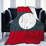 True Proportions Laos-Flagge leichte Ganzjahres-Fleece Bettüberwurf Decke für Zuhause, Reisen, Couch, Sofa, 3 Größen