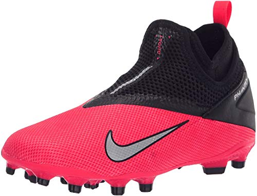 Nike Youth Phantom Vision 2 Academy DF Firm Ground Cleats (Red, Numeric_4)