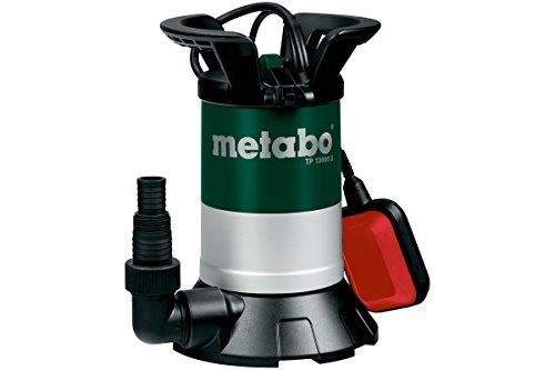 Metabo 251300000 dompelpomp voor helder water, TP 13000 S | + hoekaansluitstuk met multiadapter, vlotterschakelaar | kunststof/automatische werking (550 W/F.hoeveelheid 13000 l/h/druk: 0,95 bar)