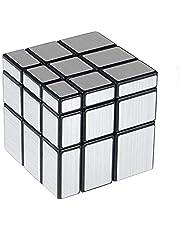 Cooja Spiegel kubus Rubix kubus puzzel 3x3 spiegel blokken zilver gladde kubus 3D puzzels voor kinderen magische kubus speelgoed hersenspellen gemakkelijk draaien training kubussen presenteert voor jongens meisjes volwassenen