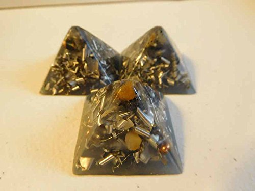 Purchase 3 Blue Cloud Small Pyramids Crystal Orgone Generator Energy Accumulator Steel! 528Hz/7.83Hz...