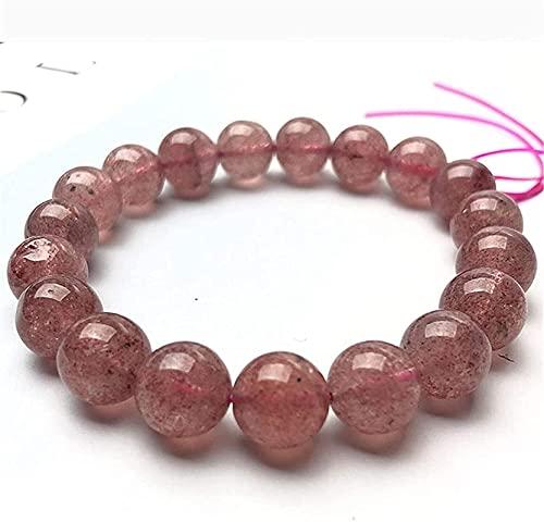 Pulsera Feng Shui Bead Feng shui riqueza natural precioso fresa cristal yoga pulsera retro étnico estilo rosa redondo gema curación cumpleaños regalos de cumpleaños hombres y mujeres, Pulsera de abalo