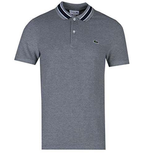Lacoste Twin Tipped Logo Polo Shirt in Navy