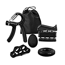iToncs hand trainer dumbbell 5 PCS, mini finger trainer forearm trainer grip strength trainer for guitarist climbing bouldering, improved hand finger forearm training device for home fitness