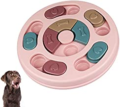 【2021 Upgraded】 Dog Puzzle Toys for Puppy Treat Training Interactive Dog Toys for Pet Cat & Dog Slow Feeder Food Dispenser Dog Treat Puzzle Toy Dog Enrichment Toys Games for Small Large Dogs