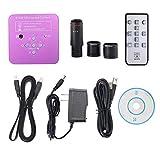 WUYUESUN 2K 51MP 1080P 60FPS HDMI USB Microscopio electrónico Cámara de microscopio Industrial 0.5X Adaptador de Ocular 30mm 30.5m Anillo para el teléfono PCB Reparación (Color : Pink)