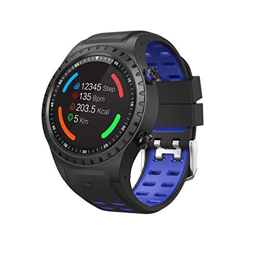 LIQIANG Reloj Inteligente, Reloj Deportivo con Bluetooth para teléfono, IP67 a Prueba de Agua, Monitoreo de frecuencia cardíaca, Seguimiento de Movimiento GPS, Monitoreo del sueño, Termómetro