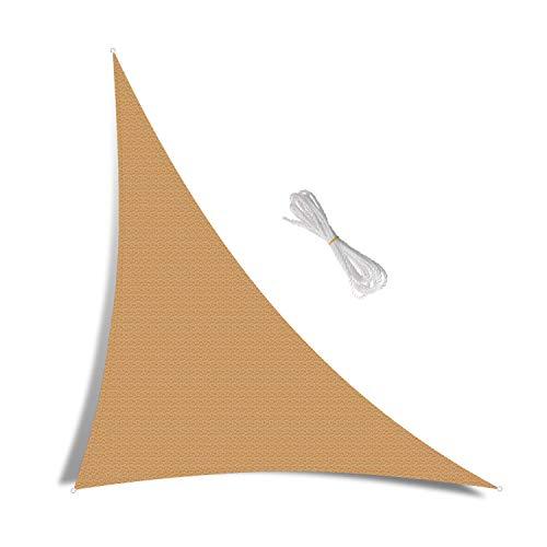 FEIGER Toldo Parasol de 2,5 x 3 Metros, rectángulo, 98% de Bloque UV, toldo de Patio de jardín de HDPE Transpirable con Cuerdas Libres, Color Arena (2,5 MX 3 m)