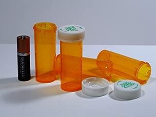 Plastic Prescription Vials/Bottles 25 Pack w/Caps SMALLEST 6 Dram Size-NEW