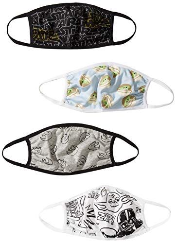 Amazon Essentials Disney Star Wars Marvel Frozen Washable Face Masks 4Pack Kids Star Wars Little Kids