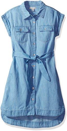 Calvin Klein Girls Big Chambray Shirtdress Medium 8 10 product image