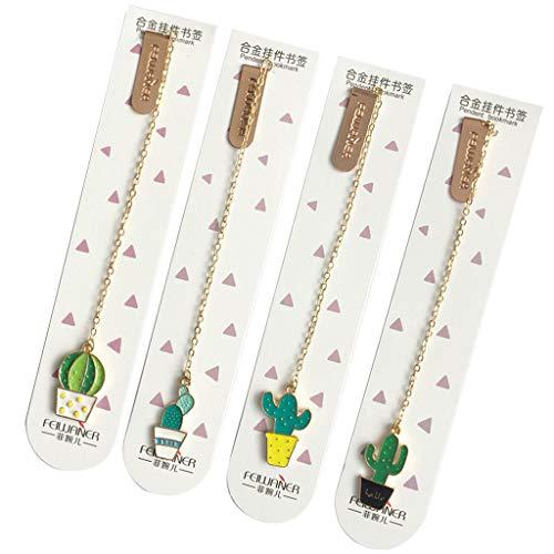 BouT - Marcapáginas de papel, diseño de cactus para libros, papelería, artículos escolares