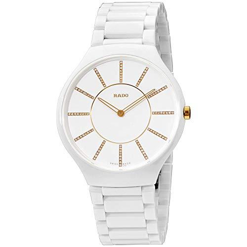 Rado R27957702 - Reloj para Mujeres, Correa de cerámica Color Blanco