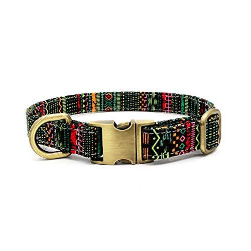 Yowablo Hundehalsband Haustierhalsband Böhmisches Hundehalsband Haustierbedarf (1.5 * 23-35cm,2Mehrfarbig)