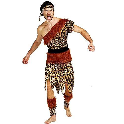 Pri03 - traje de hombre de las cavernas primitivo - primates - habitantes de las cavernas - picapiedra - disfraces - halloween - carnaval - accesorios - talla única - adultos - idea original cosplay