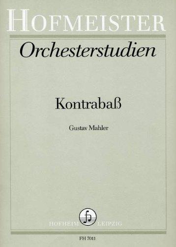 ORCHESTERSTUDIEN - arrangiert für Kontrabass [Noten / Sheetmusic] Komponist: MAHLER GUSTAV